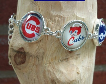 CUSTOM Chicago cubs image bracelet