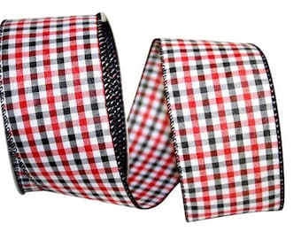 Gingham Check B & R - WE -2 Widths