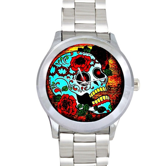 Sugar Skull Stainless Steel Watch