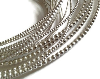 Sterling Silver Beaded Wire 2mm (12g) |Jewelry making | Jewellers wire | Pearl wire | Jewellery making | Silver wire | 1.5mmbeaded |