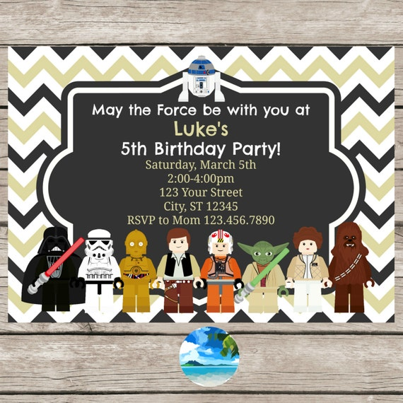 Star Wars Personalized Birthday Invitations for best invitations example