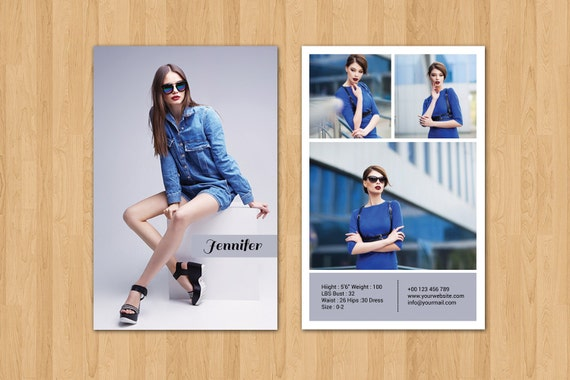 Modeling comp card template fashion model comp card for Model comp card template free