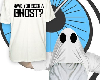 Childrens Have You Seen A Ghost ? Pull Up T Shirt - Halloween Party Scary Horror Tshirt - Printed T-shirt - Boys Girls Trick Treat Costume