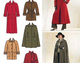 Simplicity sewing pattern - raglan coats and capes - Size 8-10-12-14-16