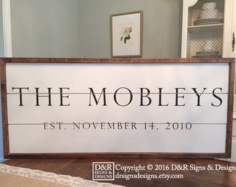 Shiplap Sign - Family Established Sign - Farmhouse Sign
