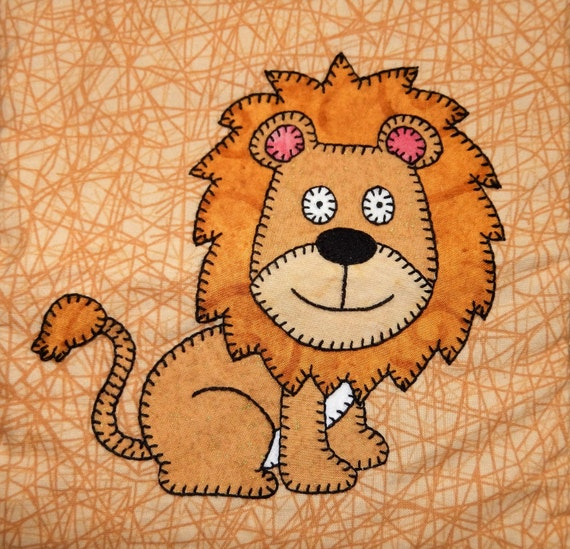 Lion Pdf Applique Pattern African Safari Animal By