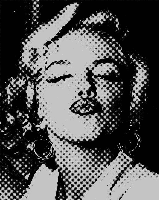 marilyn monroe pop art poster print vintage photo pucker lips. Black Bedroom Furniture Sets. Home Design Ideas