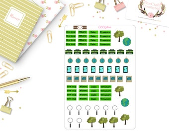 Geocaching Sticker Kit, Planner, Sticker kit, OCCG#042