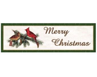 Christmas Cardinals Sign