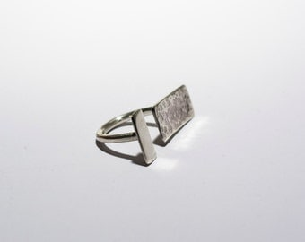 """Open"" ring in sterling silver"