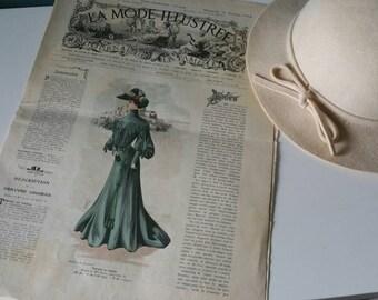 Antique french fashion Magazine La Mode Illustree! February 21th 1904