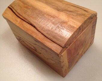 Spalted oak nick nack, jewelry box. Handmade, one of a kind wooden box.