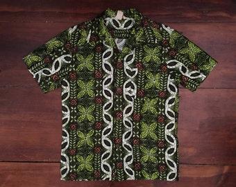 Vintage Short Sleeve Button Up Shirt Hawaiian Shirt - Medium