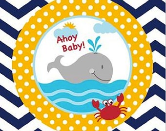 Ahoy Baby, Nautical Baby Shower, Nautical Shower, Paper Napkins, Ahoy its a Boy, Party Napkins, Baby Boy, Nautical, Baby Shower, New Baby