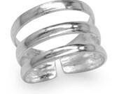 Zilveren teenring in twee stijlen
