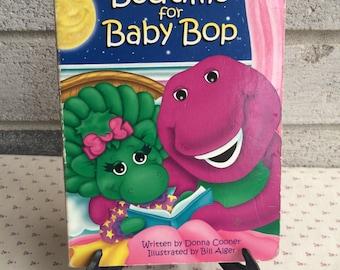 1996 Bedtime for Baby Bop, Baby Bop Book, Barney book, Children's books, Bedtime stories