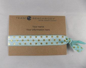 Beachbody, Beachbody Business Card, Business Card, Beachbody Promotion, Hair Ties, Elastic Hair Ties