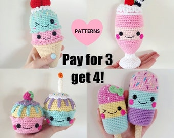 Yummy Bundle, 4 PDF patterns for the price of 3!