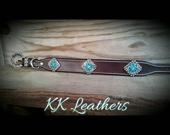 Turquoise Copper Dog Collar