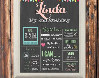 Printable-Digital-Monthly status-Personalized -Birthday Sign-Chalkboard Sign-Social Media-Wall Decor-Sign-Bundle Package-Custom-Theme