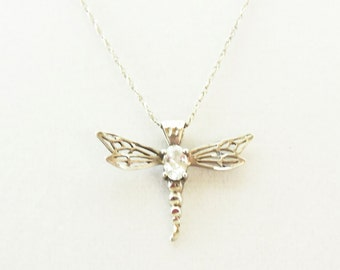 Sterling Silver Dragon Fly Necklace