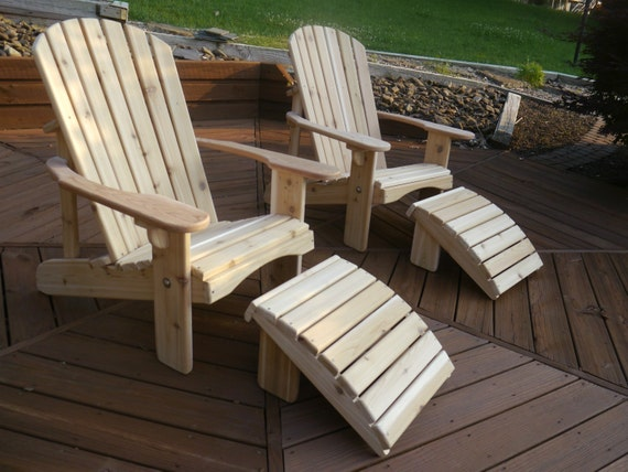 Classic Adirondack Cedar Chair by OzarkMtnFurniture on Etsy