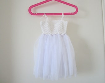 Tutu dress, baby girl dress, crochet dress, baptism dress, baby girl tutu dress, white crochet dress, ceremonie dress, baby crochet dress