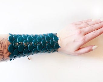 Bracelet with mermaid/fish silicone silicone mermaid/fish scales scales bracer