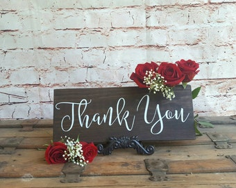 Thank you sign, Photo prop, Rustic wedding decor, Wood signs sayings, Wooden sign