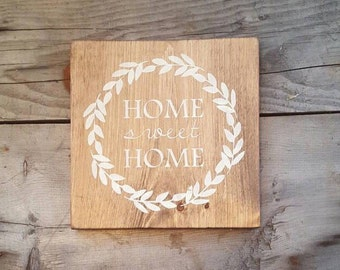 Home sweet home, Wood signs sayings, Wood wall art, Rustic Home decor