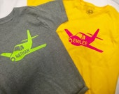 Personalized Airplane shirt