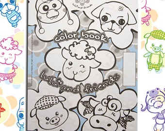 Coloring Book Lulù and Friends
