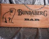 Bundaberg Rum Bar Sign Bundy