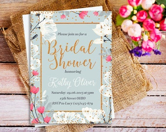 gold and white bridal shower invitations, elegant bridal Shower Invitation, Vintage Elegant Bridal Shower Invitation, baby shower invites