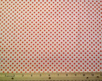Small Orange Pook-a-dot Fabric