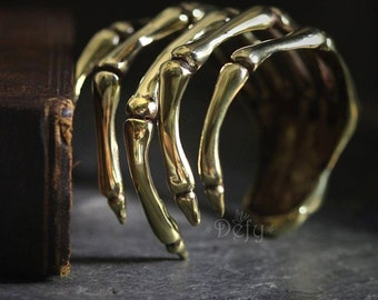 Hand Skeleton Cuff / Bracelet by Defy - Cool Statement Unique Jewelry