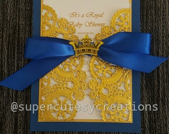Royal Prince Baby Shower Invitations ******Min Order of 20 Invitations******