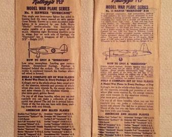 Kellogg's Pep Model War Plane Series