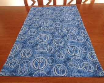 """Handmade Colorful """"Peace Sign"""" Standard Size Pillowcase - Free Shipping in USA"""