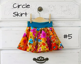 PDF Pattern - Circle Skirt - Babies/Toddlers - Sizes Newborn to 5-6T - Instant Download - Easy Photo Tutorial
