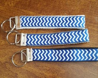 6 inch Chevron Collection Key Fob Wristlet / Custom Key Chain Wristlets / Chevron Key Fobs