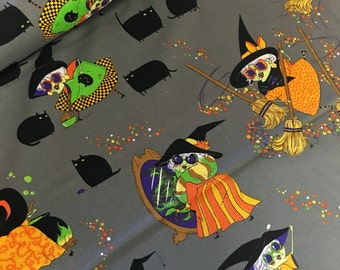 Alexander Henry -  halloween  - fabric - material - fabric - sewing -supply notion - bty - 1 yard