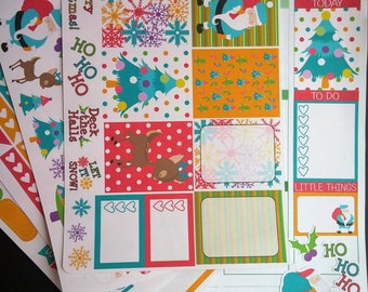 Retro Bright Christmas Weekly Planner Kit!  Available for Erin Condren Life Planner or MAMBI/Happy Planner