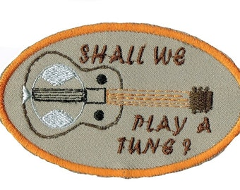 Dobro Shall We Play A Tune? Iron On Patch