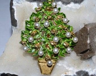 Original by Robert Christmas tree brooch pin