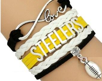 Pittsburgh Steelers Bracelet - Steelers Bracelet - Pittsburgh Steelers Bling- Perfect Stocking Stuffer!!!
