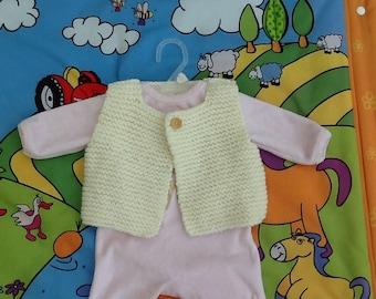 Baby knitting vest