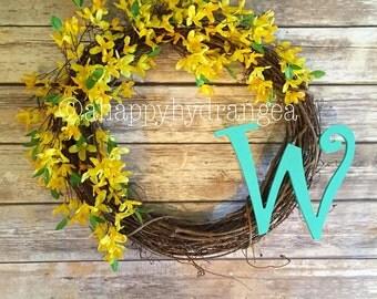 Customized Forsythia Wreath