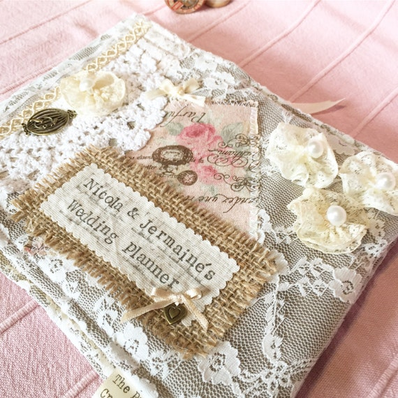 Engagement Gift Wedding Planner : Wedding Planner Book Deluxe ~ Engagement Gift ~ Vintage Style Wedding ...