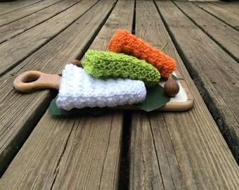 Hand Knit Cotton Dishcloth